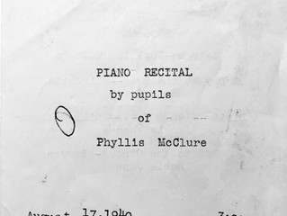 """REF 4 """"Piano Recital by pupils of Phyllis McClure Program August 17, 1940;"""" """"Portage County Schools"""
