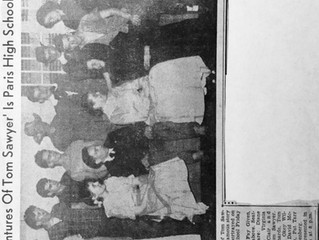 """REF 7 """"'Adventures of Tom Sawyer' Is Paris High School Play"""" The Record -Courier, Ravenna-Kent, Ohio"""