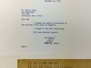 """REF 2 Welsh Doggerel. """"Letter from Robert Hughes"""" to Jones on Cuyahoga County Republican P"""