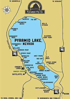 Pyramid Lake Map