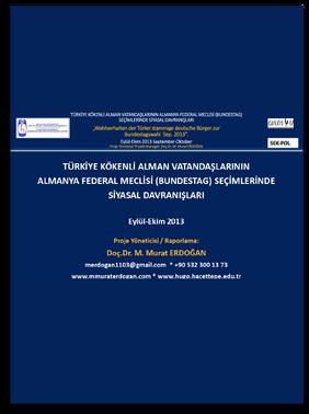 Türkiye Kökenli Alman Vatandaşlarının Almanya Federal Meclisi (Bundestag) Seçimlerinde Siyasal Davranışları