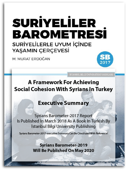 A Framework For Achieving Social Cohesion With Syrians In Turkey