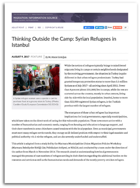 Thinking Outside the Camp: Syrian Refugees in Istanbul