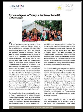 Syrian refugees in Turkey: a burden or benefit?