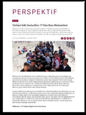 Türkiye'deki Suriyeliler: 9 Yılın Kısa Muhasebesi