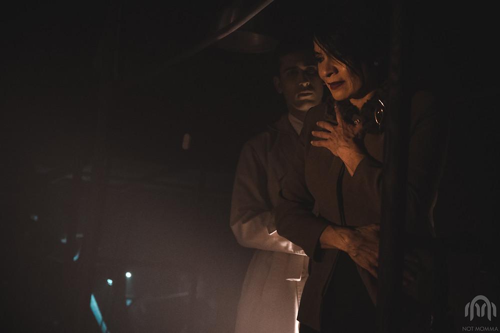 """Claudia Correa y Matias Lapunzina en un momento de """"SEPTIEMBRE..."""" Fotografía de Leandro Alloatti."""