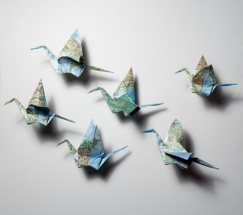 Wall Cranes - 6 pack
