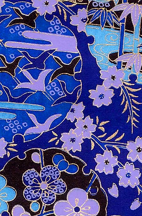 Blue with Purple - Pair of Cranes Mobile - Peace