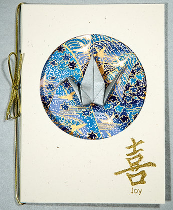 Blue Water w Cranes - Greeting Card