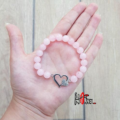 """""""გული"""" ვარდისფერი კვარცი"""