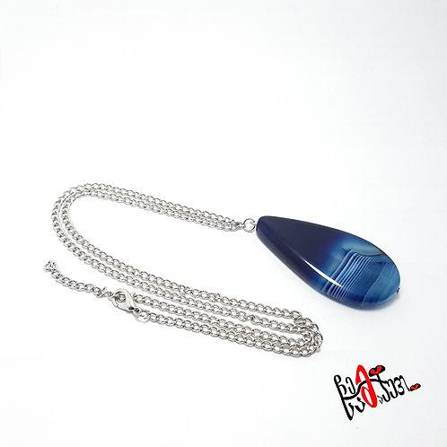 ლურჯი აგატის ყელსაბამი