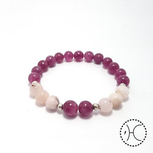 Agate & Opal Beaded bracelet