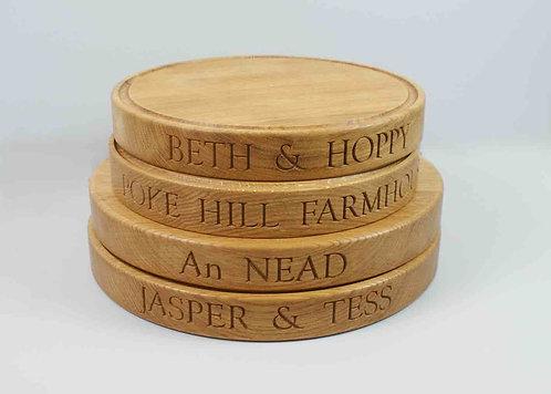 Oak Round Chopping Board