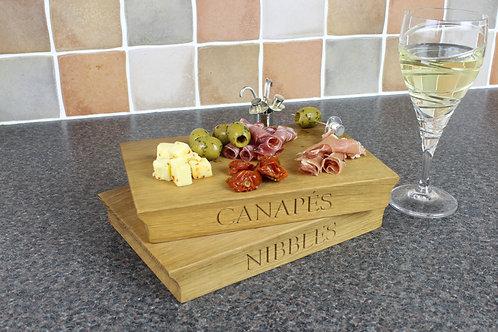 Oak Canapes Board