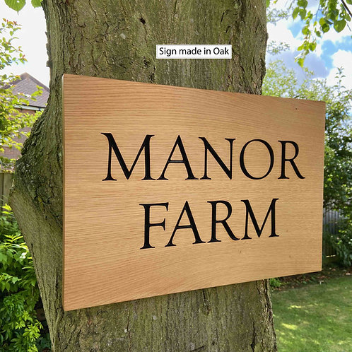 Oak signs (Fully customisable)