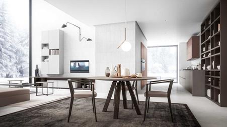 Tafel en stoel in eik