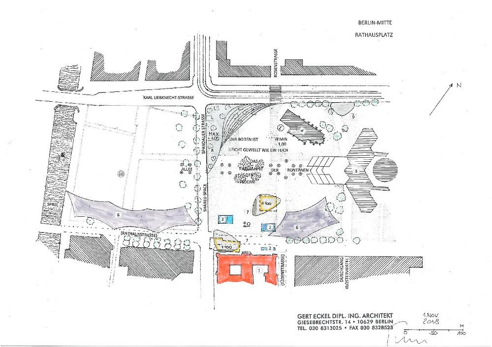 Skizze zur Zukunft des Rathausplatzes
