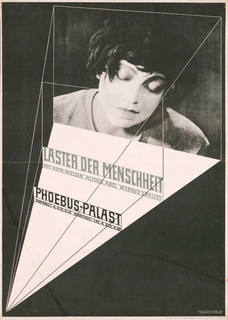 """""""Laster der Menschheit"""", ein Entwurf von Jan Tschichold 1927."""