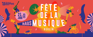 Plakat der Fete de La Musique in Berlin 2020