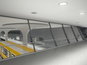 Baufortschritt am U-Bahnhof Rotes Rathaus