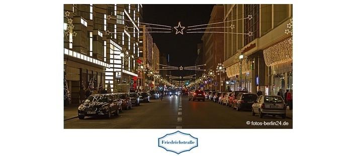 Weihnachtsbeleuchtung Friedrichstraße
