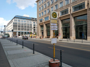 Bushaltestelle ist fertiggestellt