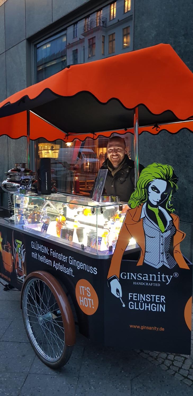 Glüh-Gin Verkaufsstand am Regent Hotel Gendarmenmarkt