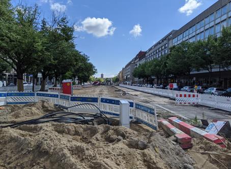Baustelle Unter den Linden wird abgerüstet