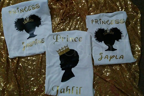 prince/princess youth shirts