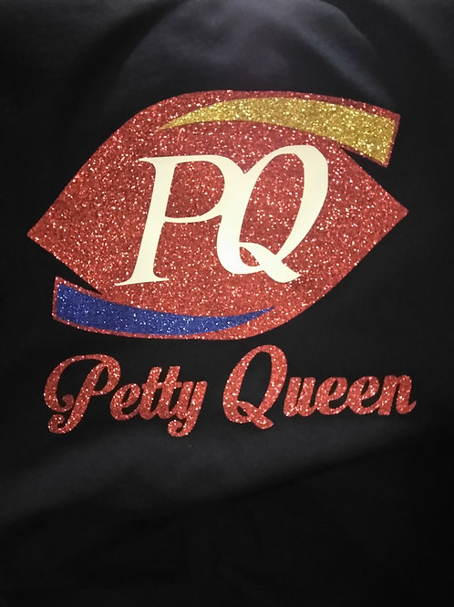 Petty Queen glitter s-xl