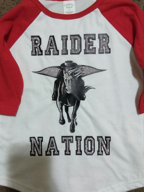 raider nation baseball sleeves with glitter