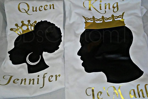 king and queen shirts ( can be sold separate)