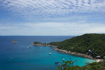 Sicht auf Shark Island Koh Tao Thailand