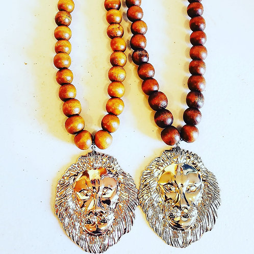 Beaded Lion Head Chain
