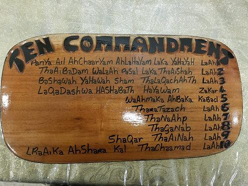 Large Wooden 10 Commandments