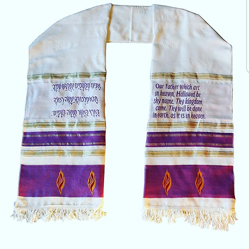 Prayer Shawls with Lords Prayer