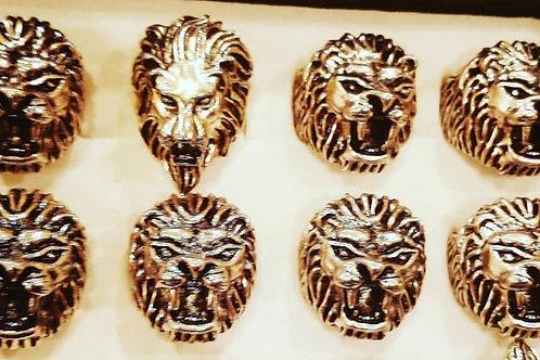 Lion Head Rings Silver
