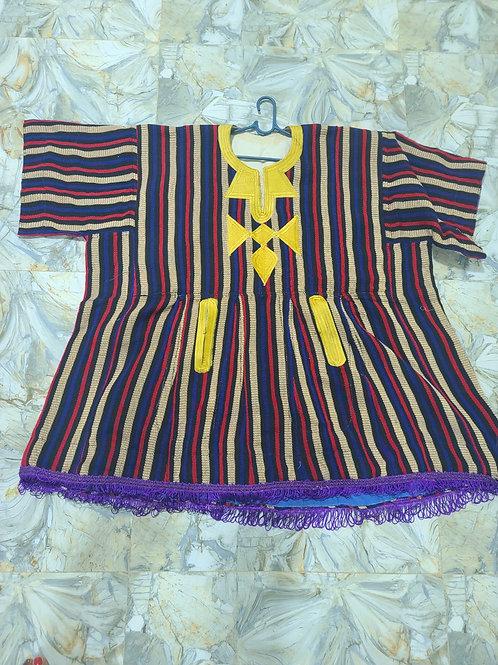 Woven Striped Dashiki w/ Fringes