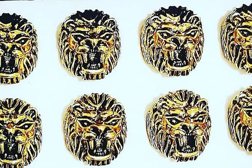 Lion Head Rings Gold
