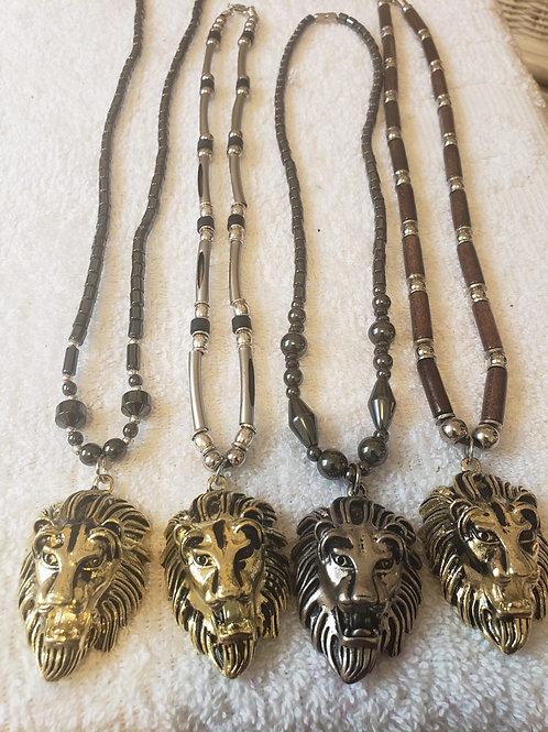 Lion Head Beaded Chain