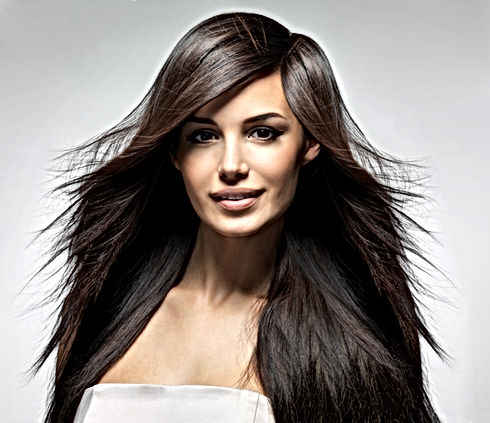 modèle de cheveux