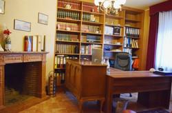 Arbeitszimmer mit Kamin