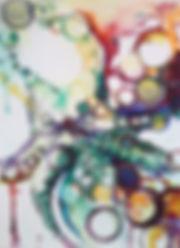 Abstractopus octous octopus art coastal local art sealife colorful watercolor