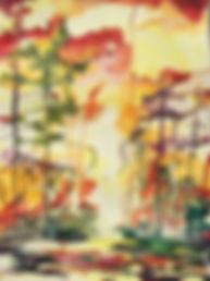 Serene breezes at nightfall watercolor beautiful peace sanctuary