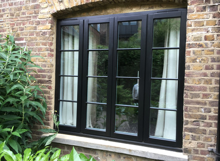 Contempory Timber Casement Windows in East London