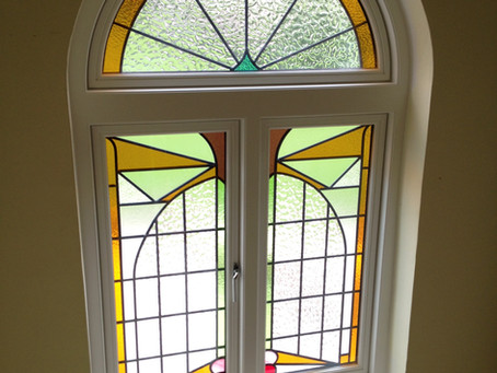 Original Stained Glass Saved & Fitted Into New Wooden Window