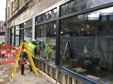 Timber Windows and Doors for New Shop Front in Pimlico, London