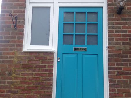 New Hardwood Front Door & Windows In Bucks