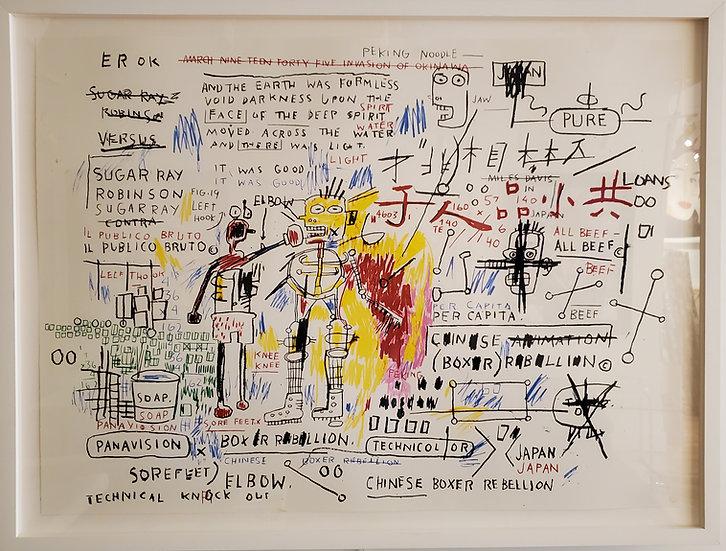 Jean-Michel Basquiat- Boxer Rebellion