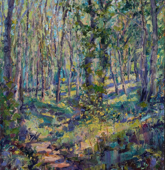 Springtime in the Woods 50x40cm Oil on board